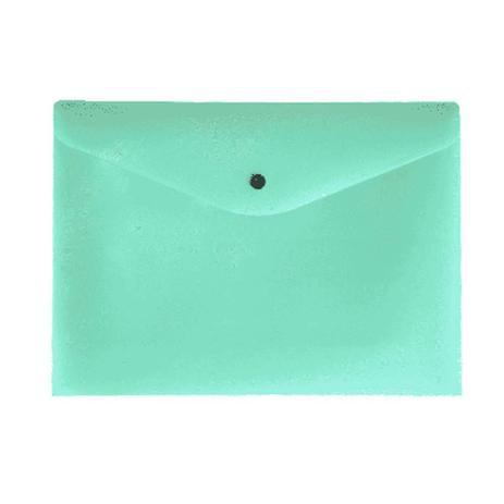 Envelope Com Botão A4 Serena - Verde Pastel