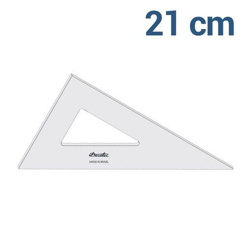 Esquadro Trident / Desetec 21cm 30°|60°|90° sem escala - Ref 2621