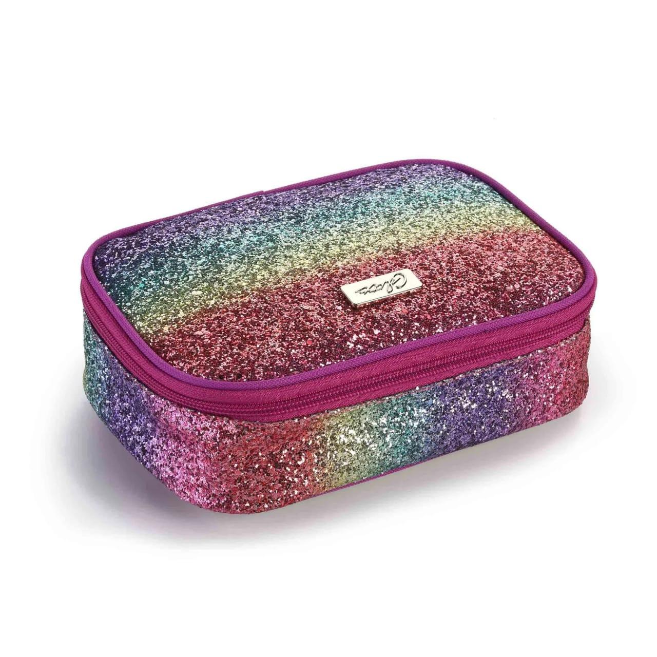 Estojo Box Feminino Glitter