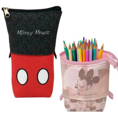 Estojo Retrátil Mickey ou Minnie