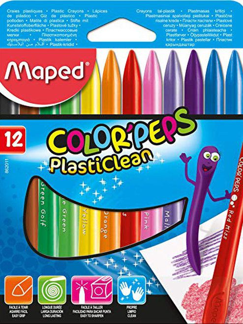 Giz De Cera Plasticlean Maped Color Peps