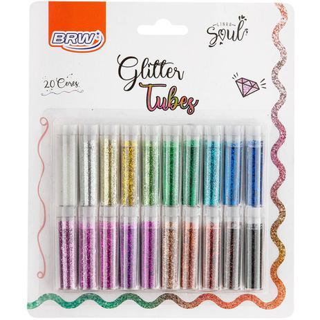 Glitter Tubes Com 20 Cores
