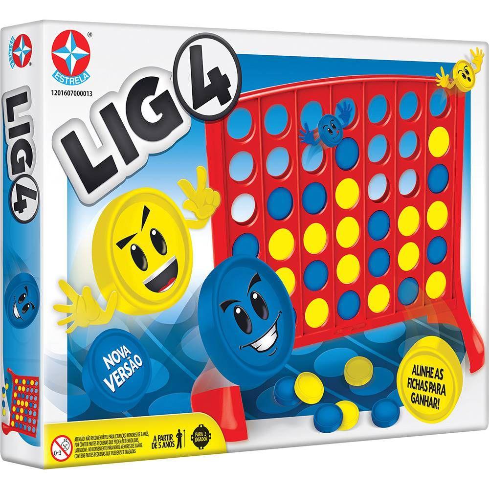 Jogo LIG 4 Tabuleiro - ESTRELA