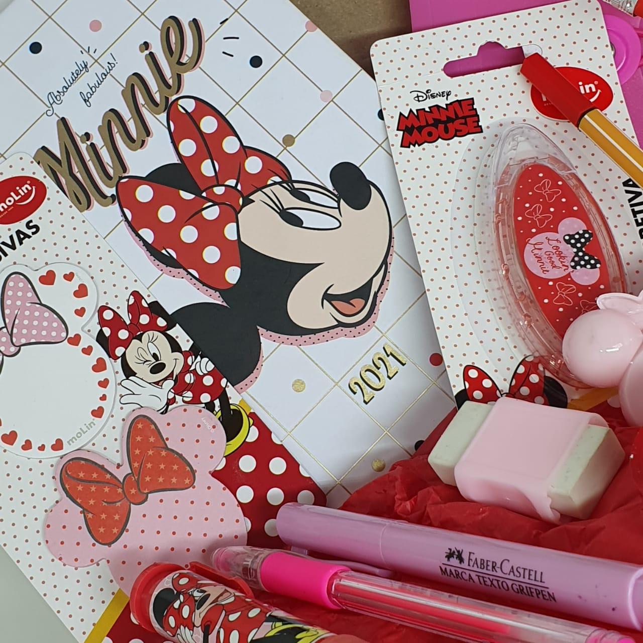 Kit Material Escolar Minnie - 17 Itens