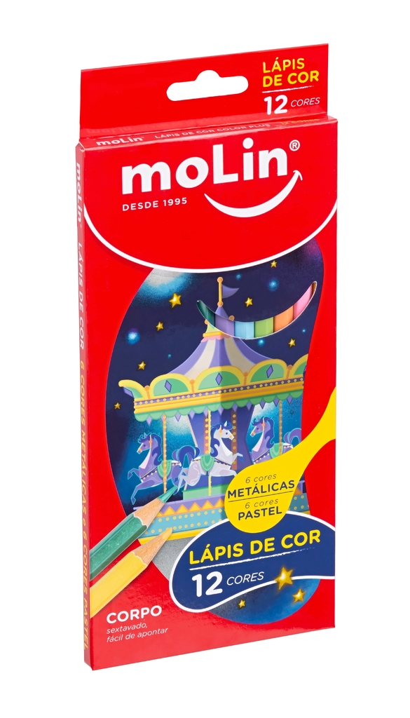 Lápis de Cor Color Plus Molin