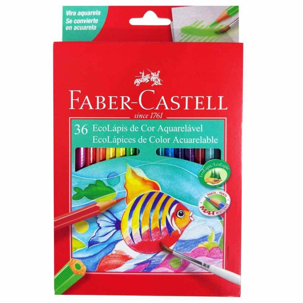 Lápis De Cor Aquarelável C/ 36 Cores - Faber Castell