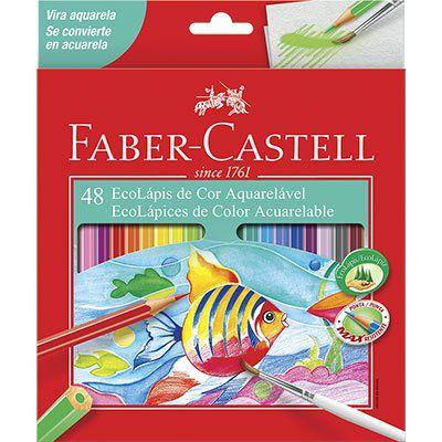Lápis De Cor Aquarelável C/ 48 Cores - Faber Castell