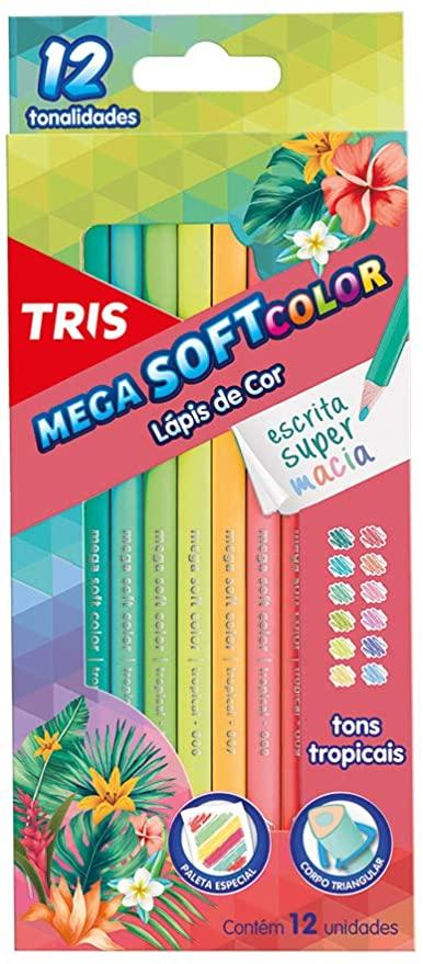 Lápis De cor C/ 12 Cores Tons Tropicais - Tris