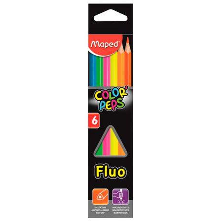 Lápis De Cor Color Peps Maped C/ 6 Cores