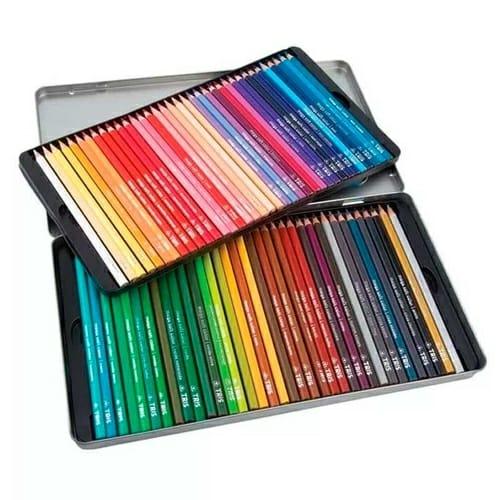 Lápis de Cor Mega Soft Color C/ 72 Cores + Estojo de Metal