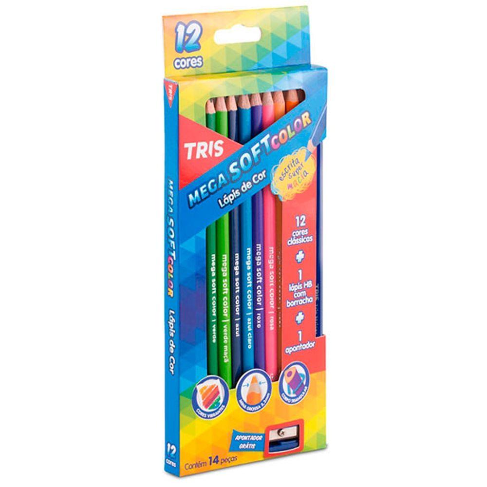 Lápis de Cor Mega Soft Color Tris C/12