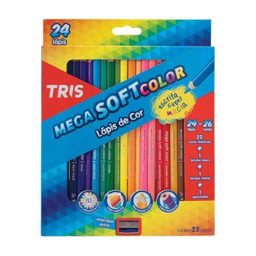 Lápis de Cor Mega Soft Color Tris C/24