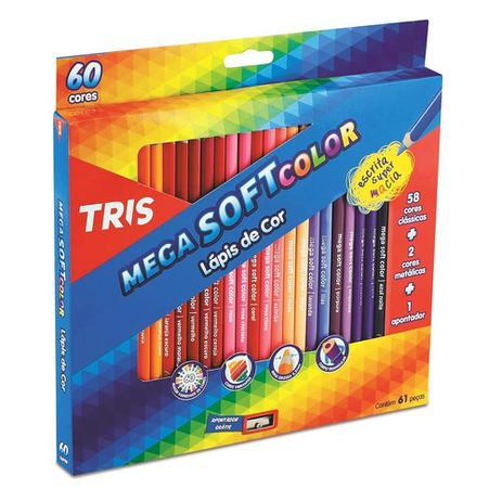 Lápis de Cor Mega Soft Color Tris C/ 60 Cores