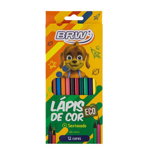 Lápis De Cor Sextavado C/12 Cores - BRW
