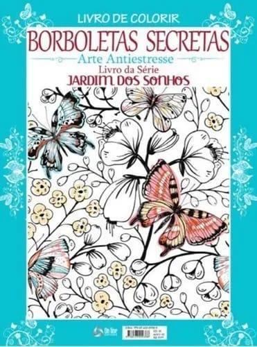 Livro para colorir Borboletas Secretas