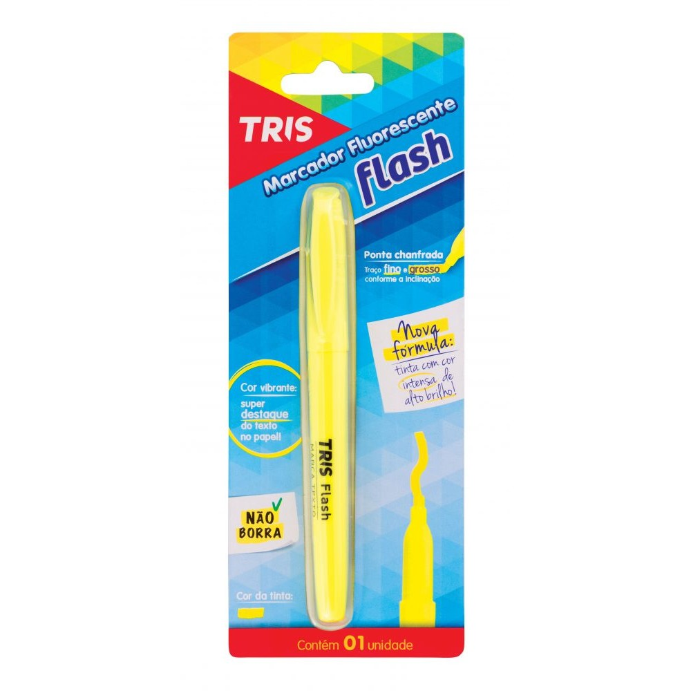 Marca Texto Flash Fluorescente - Tris