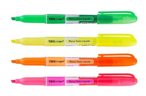 Marca Texto Fluorescente Liqeo 4 Cores Tris