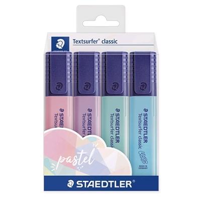 Marca Texto Textsurfer Pastel C/ 4 Cores - Staedtler