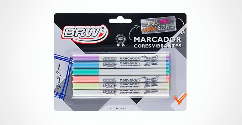 Marcador Cores Vibrantes Brw