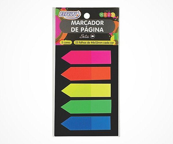 Marcador De Pagina Neon Adesivo 44x12 mm