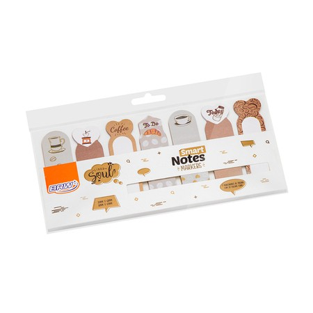MARCADOR DE PÁGINA SMART NOTES MARKERS- COFFEE - BRW