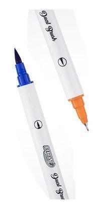 Marcador Dual Brush Brw C/ 12 Cores