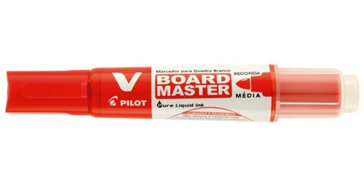 Marcador P/ Quadro Branco Recarregável Vermelha V-Board Master - Pilot
