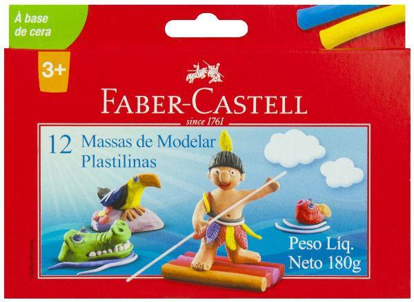 Massa de modelar Faber Castell 12 cores