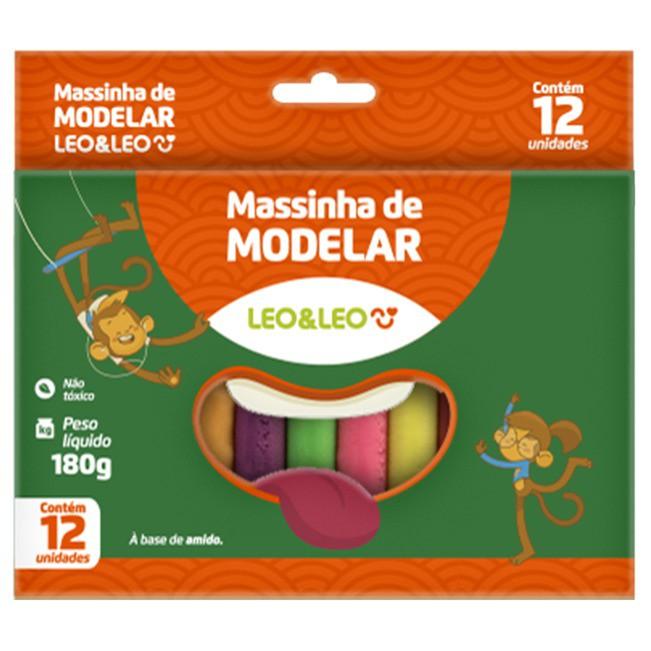 Massinha De Modelar Leo & Leo C/ 12 Cores