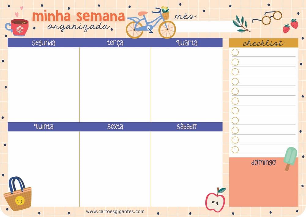 Planner de Mesa Minha Semana