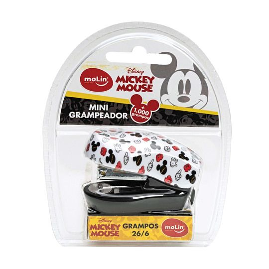 Mini Grampeador Mickey Mouse + 1000 Grampos