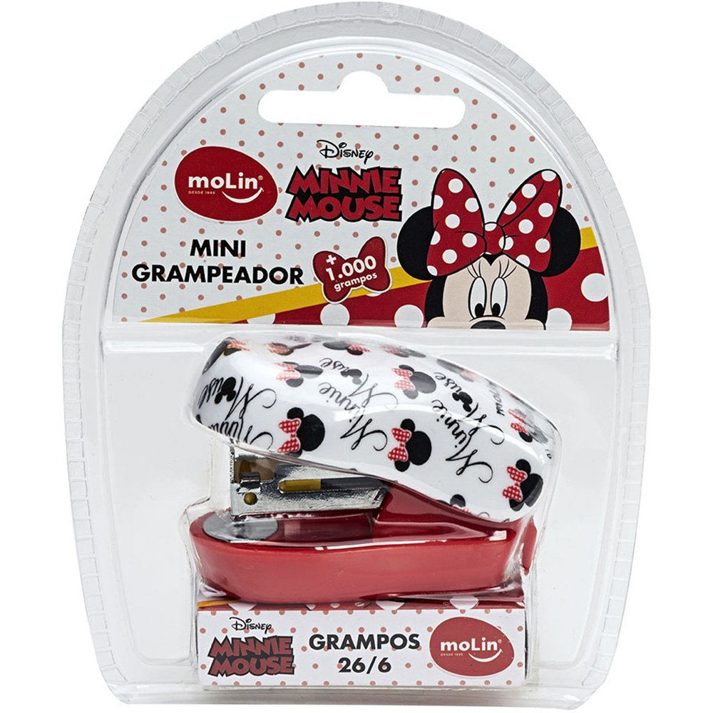 Mini Grampeador Minnie Mouse + 1000 Grampos