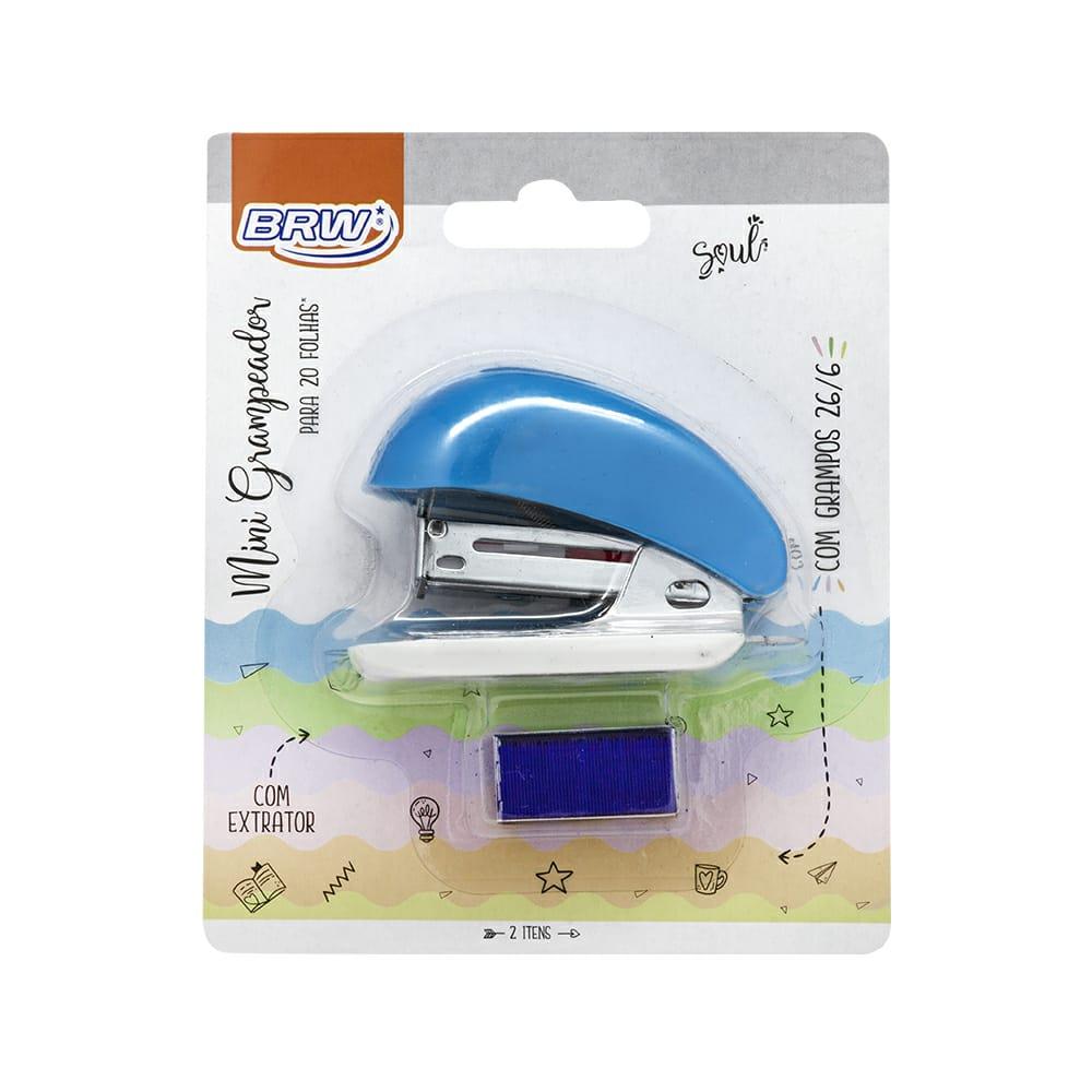 Mini Grampeador P/ 20 Folhas - Brw