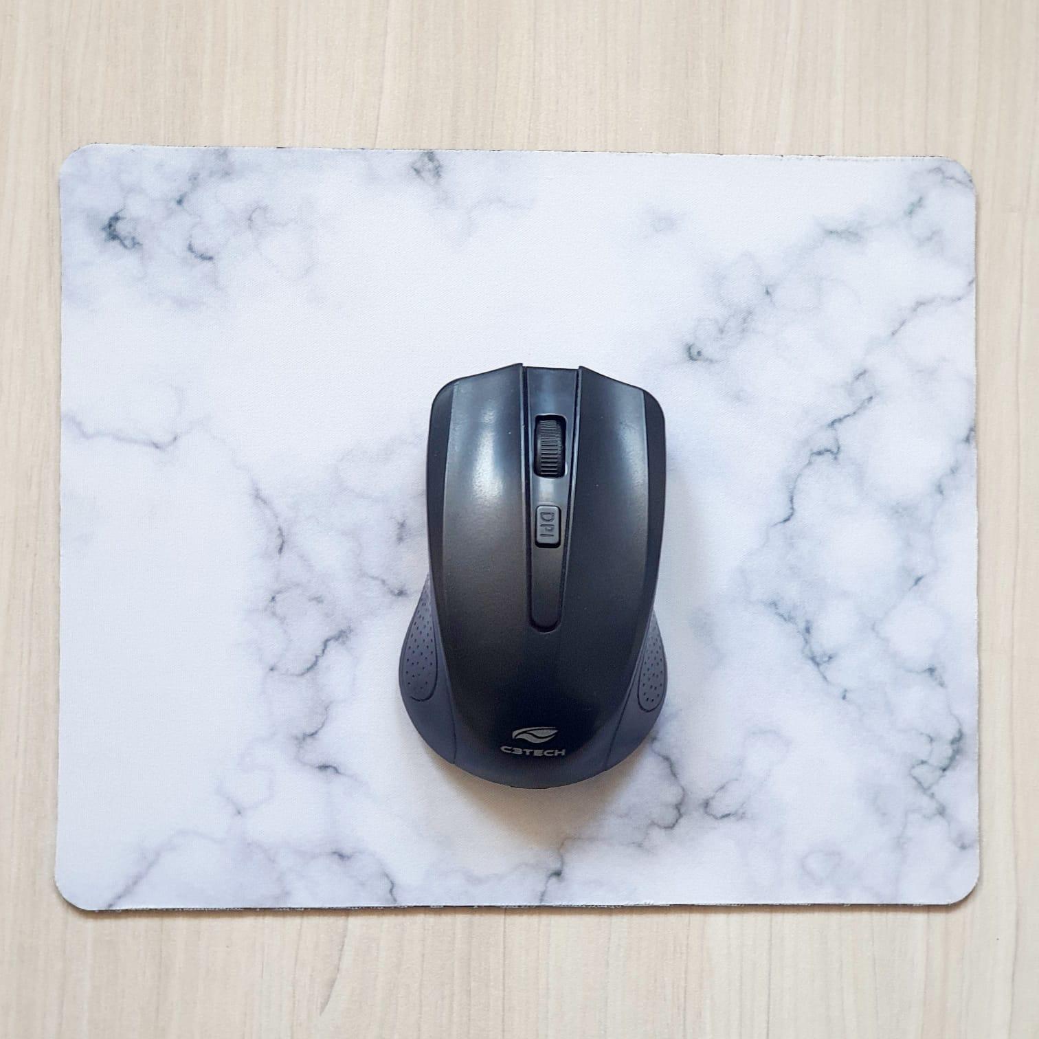Mouse Pad Estampa Marmorizada 23x19cm