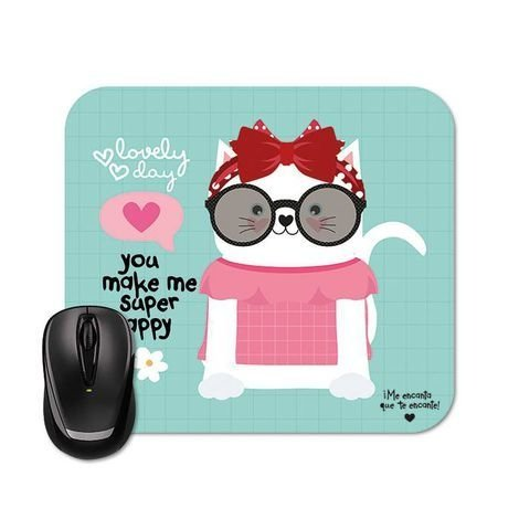 Mouse Pad Happy Cat - Raizler