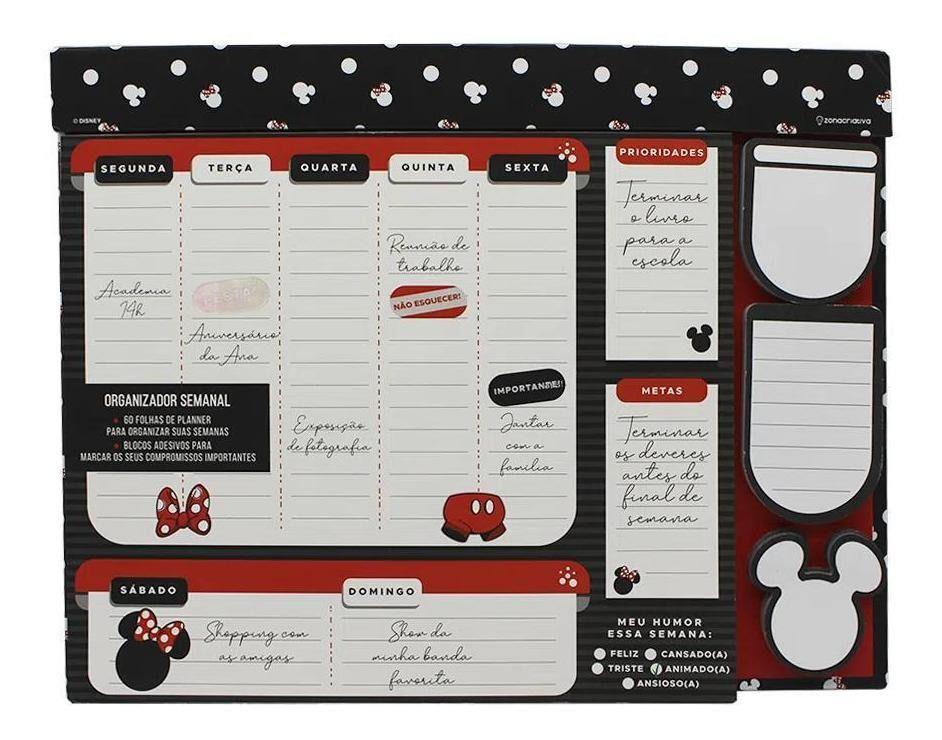 Organizador Semanal Mickey e Minnie Poa