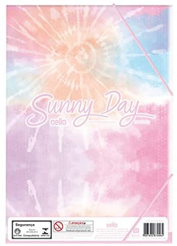 Pasta Aba Elástico Ofício Dello Sunnyday rosa