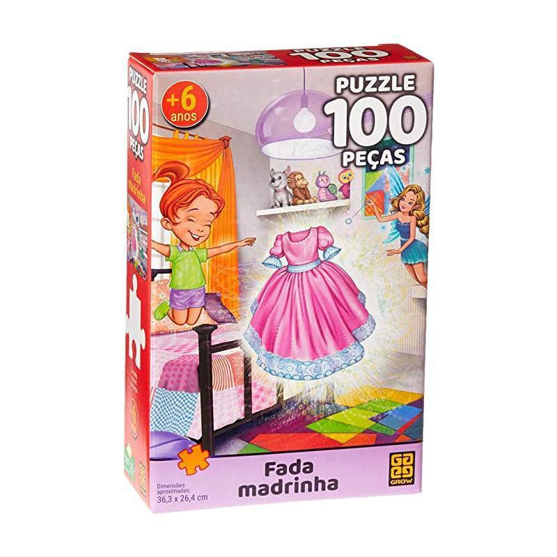 Puzzle Fada Madrinha C/ 100 peças