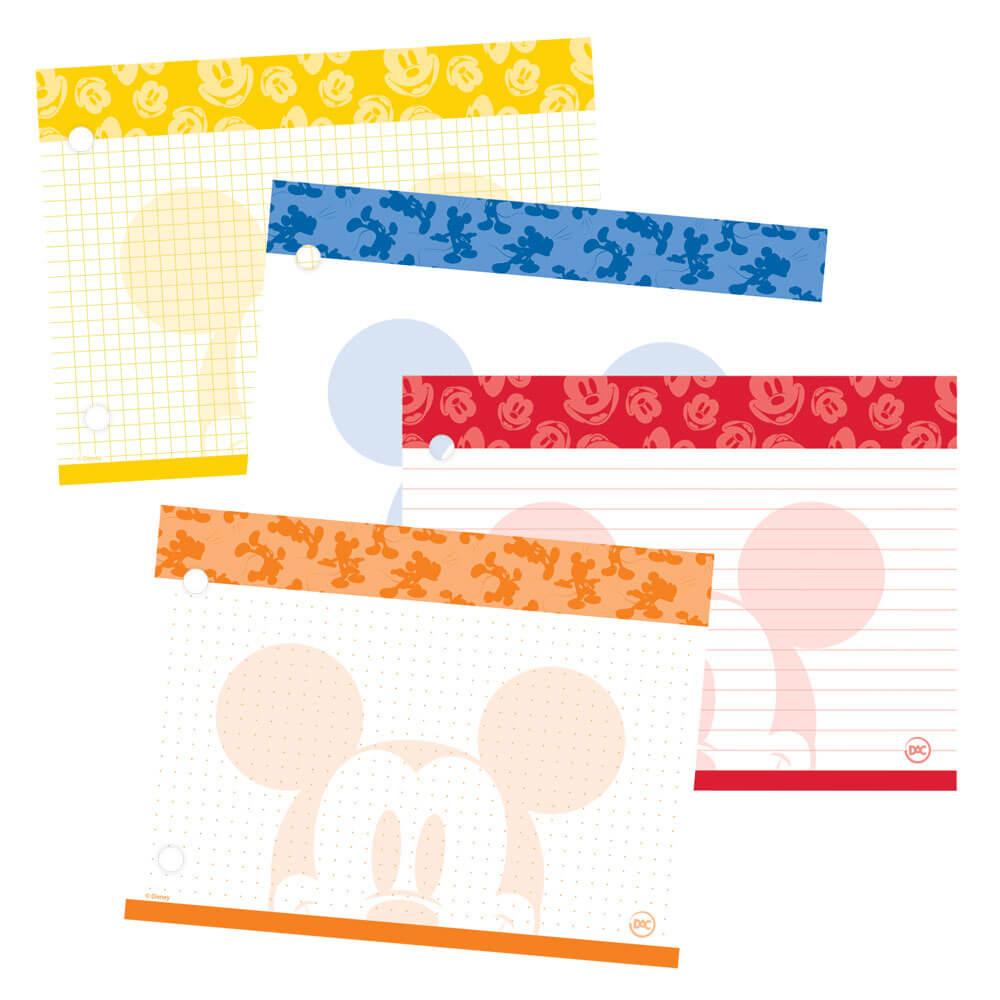 Refil de Fichas P/ Mini Caderno Argolado Mickey
