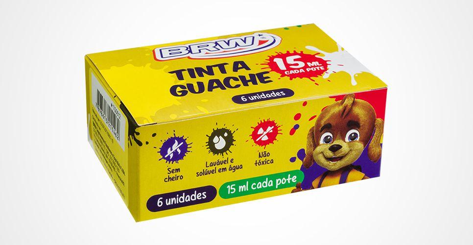 Tinta Guache Brw C/ 6 Unidades