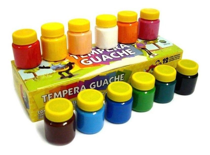 Tinta Tempera Guache C/ 12 Cores - Acrilex
