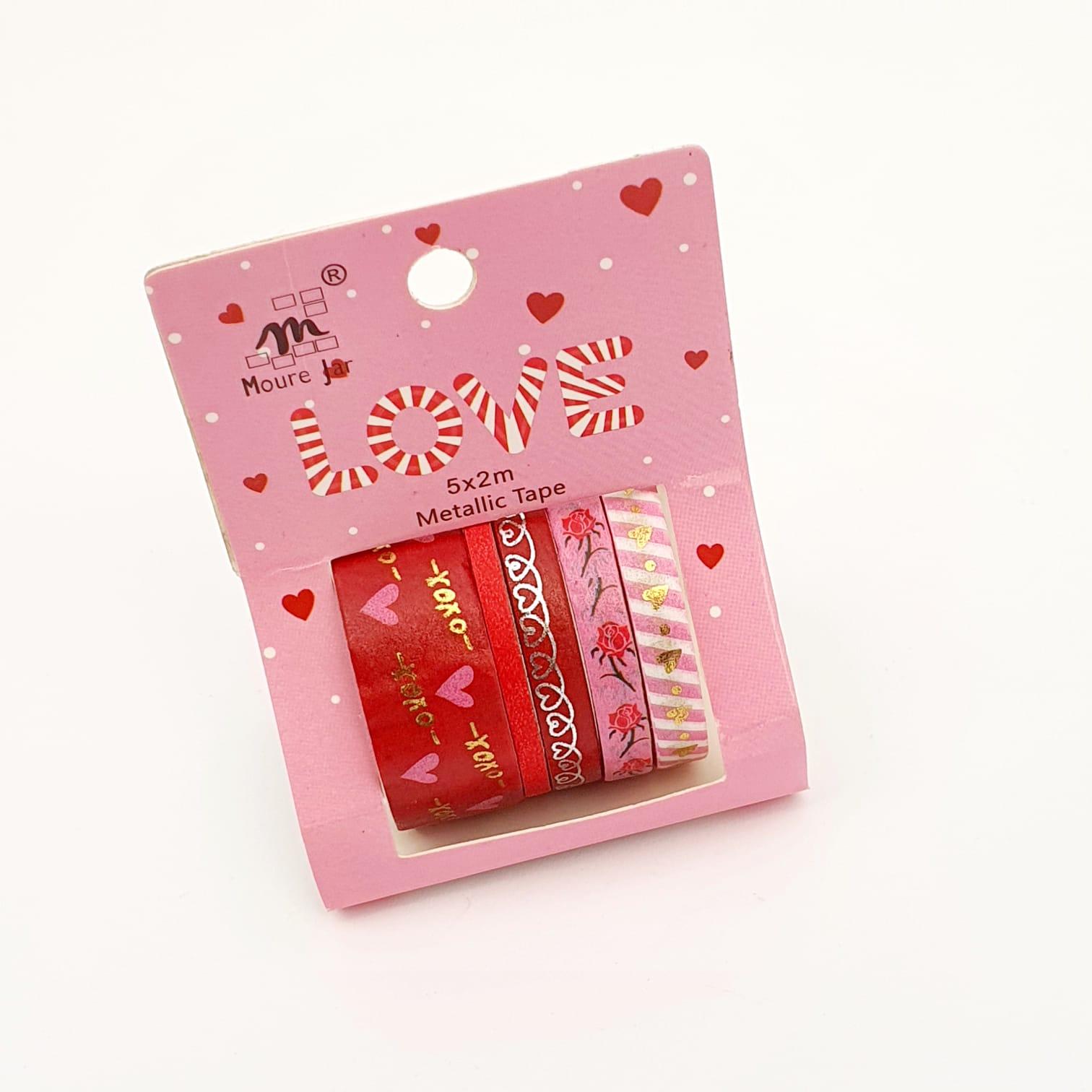 Washi Tape Decorada C/5 unidades