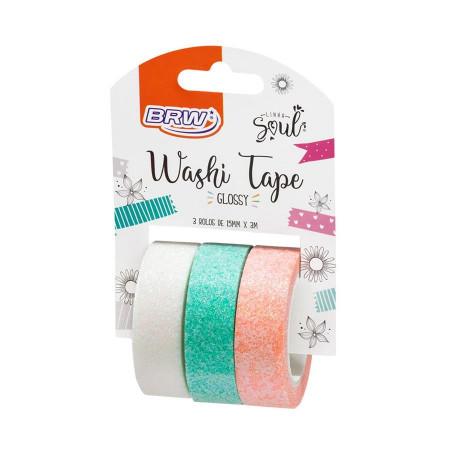 Washi Tape Glossy  C/ 3 Unidades
