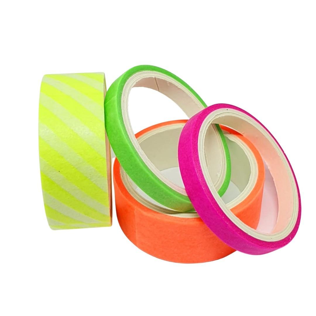 Washi Tape Neon C/ 4 Unidades - Brw