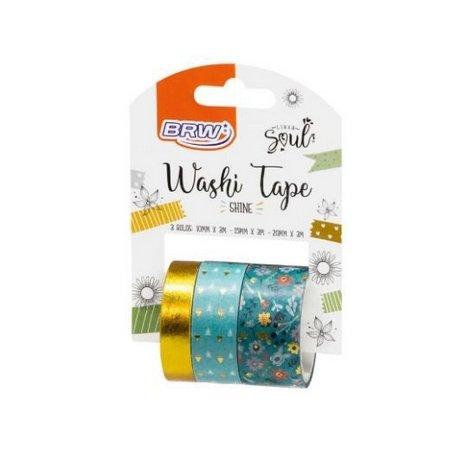 Washi Tape Shine C/ 3 Rolos - Brw