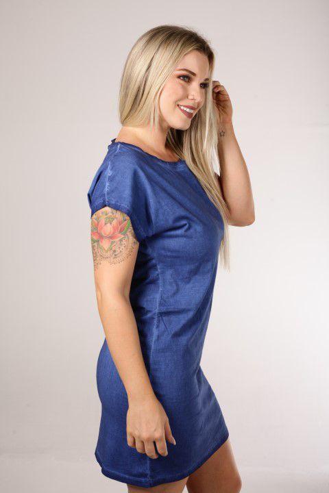 Vestido Up Zup Azul Estonado