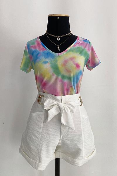 Blusa Decote V Tie Dye Gadore