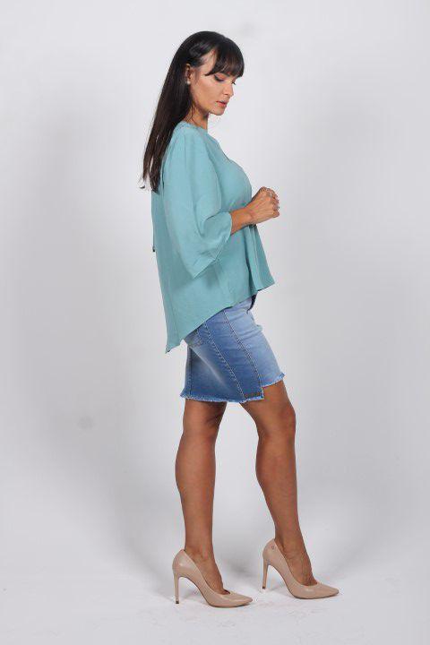 Blusa Verde com Abertura Nas Costas Smel