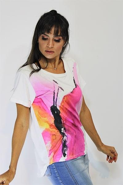 Blusa UseUp T-shirt com Estampa Borboleta