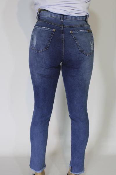 Calça Jeans Skinny com Tachas no Cós
